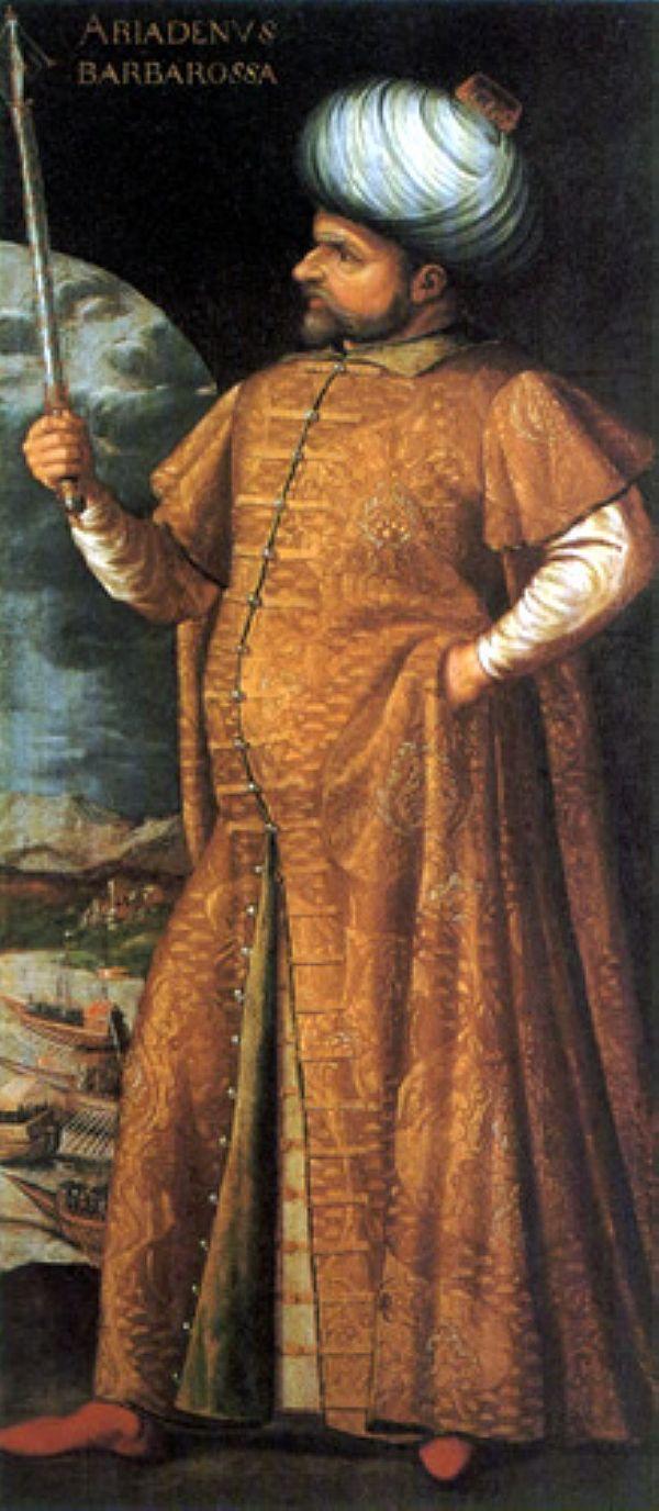 Le célèbre Mujahid Ottoman, l'amiral et gouverneur d'Alger Khayr ad din dit Barberousse par les polythéistes