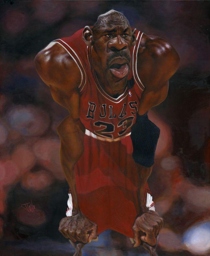 """Michael Jordan"" por Jota Leal | CARICATURAS DE FAMOSOS"