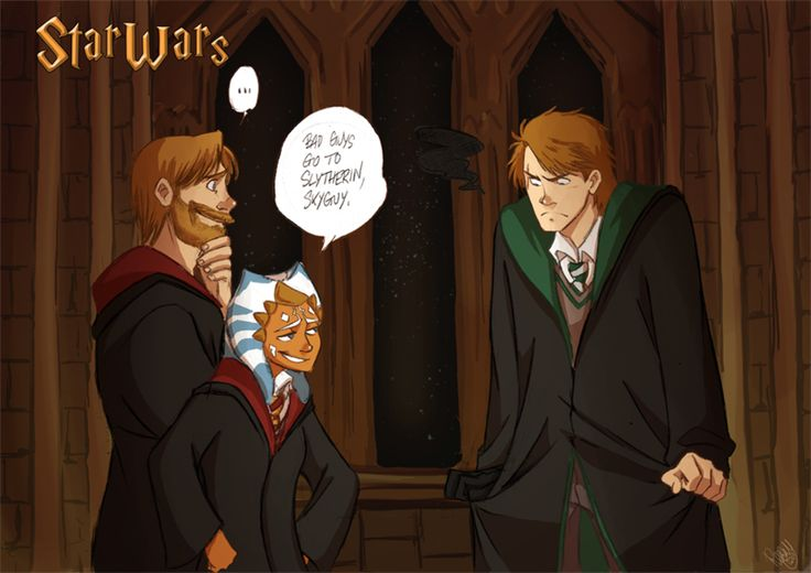 SW - Bad Guys Go To Slytherin by Renny08.deviantart.com on @deviantART   ~ Star Wars/ Harry Potter crossover: SO FUNNY! XD ~