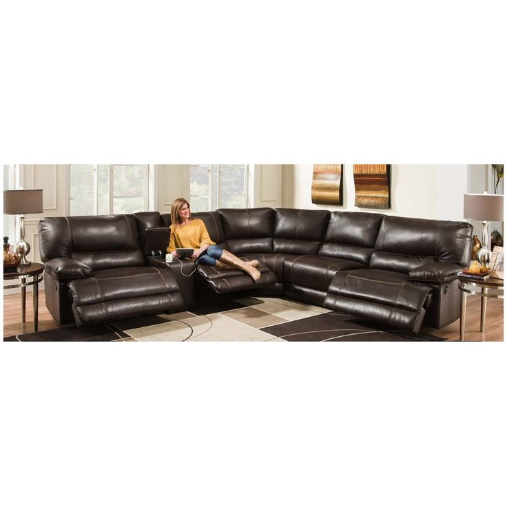 Leather Sofa Chelsea Home Furniture Bane Piece Power Sectional Recliner Sofa AF PAFRSEC