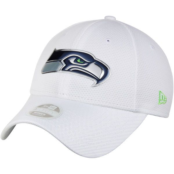 Seattle Seahawks New Era Women's NFL Kickoff 9FORTY Adjustable Hat - White