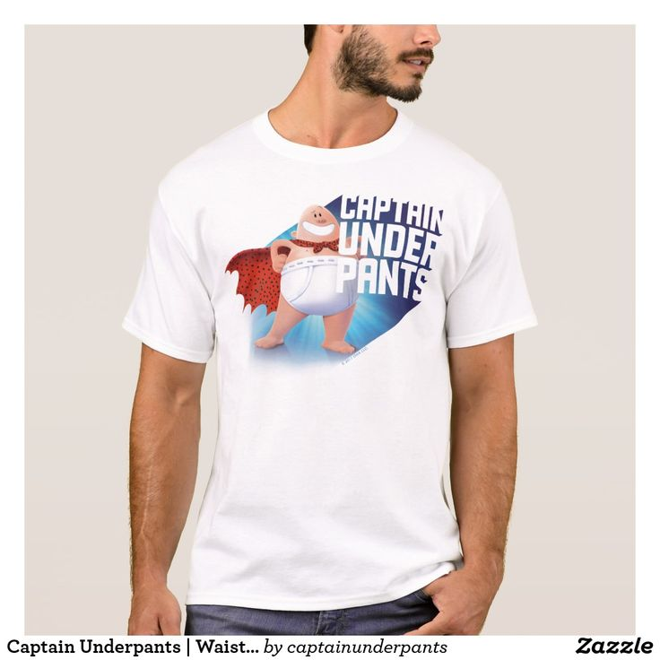 Captain Underpants   Waistband Warrior On Roof. Producto disponible en tienda Zazzle. Vestuario, moda. Product available in Zazzle store. Fashion wardrobe. Regalos, Gifts. Trendy tshirt. #camiseta #tshirt