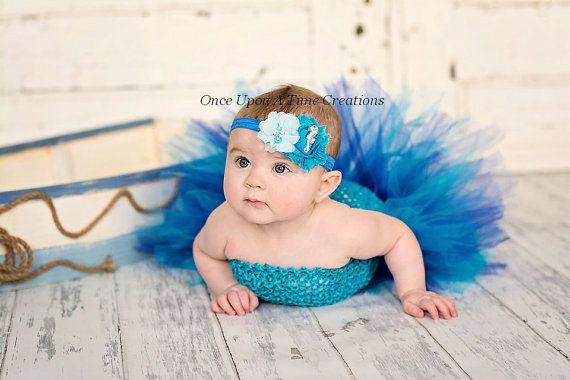 Under The Sea Seahorse Headband - Newborn Baby Hairbow - Little Girls ...