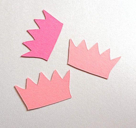 Pink Princess Crown Confetti by ThePaperBazaar on Etsy, $4.21