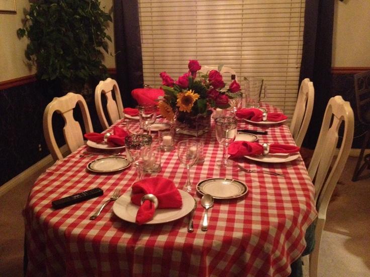 Italian Dinner 2012  Table Setting