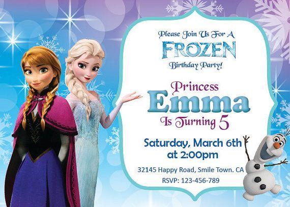 elsa birthday invitations
