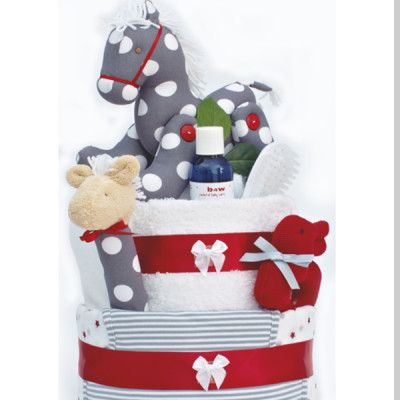 Look no further for the perfect baby gift! Both baby boys and baby girls will love this Pony Nappy Cake!