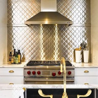 stainless backsplash kitchen backsplash brass kitchen stainless steel