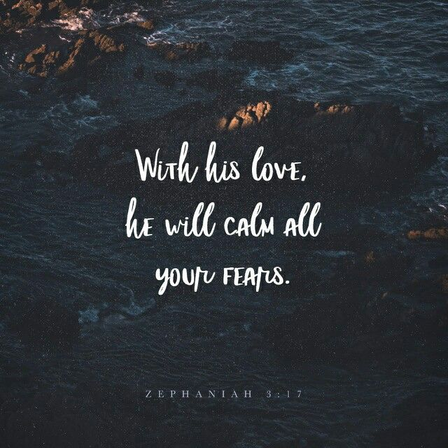 "For the Lord your God is living among you. He is a mighty savior. He will take delight in you with gladness. With his love, he will calm all your fears. He will rejoice over you with joyful songs."" Zephaniah 3:17 NLT http://bible.com/116/zep.3.17.NLT"