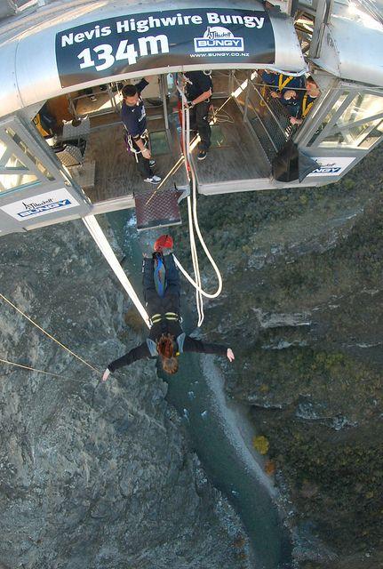 Nevis bungee jump in Queenstown, New Zealand