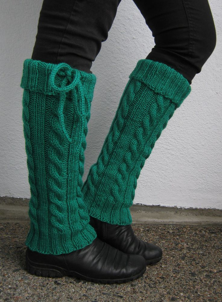 Free Knitting Pattern for Hot Gams Legwarmers
