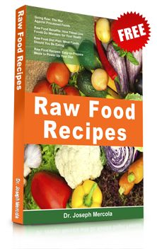 Get the Raw Food Diet Recipes eBook for Free!  Read and discover how consuming raw foods positively affects your longevity and optimal health. Featuring nutritious and wholesome recipes from Dr. Mercola that you can prepare at home!     Just enter your email address below. You'll also get a FREE subscription to Dr. Mercola's natural health newsletter.
