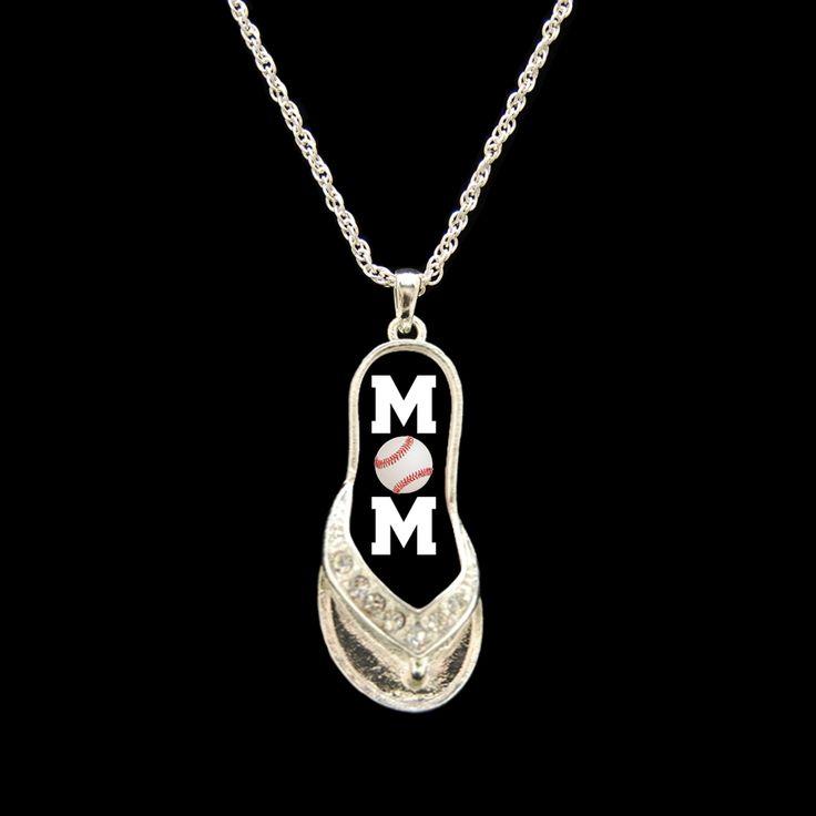 Baseball Mom Flip-Flop Necklace