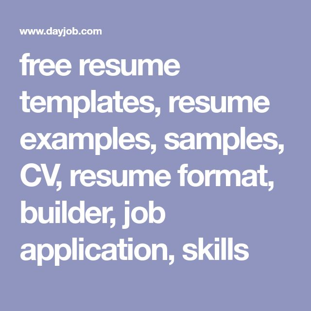Best  Free Resume Format Ideas On   Resume Format