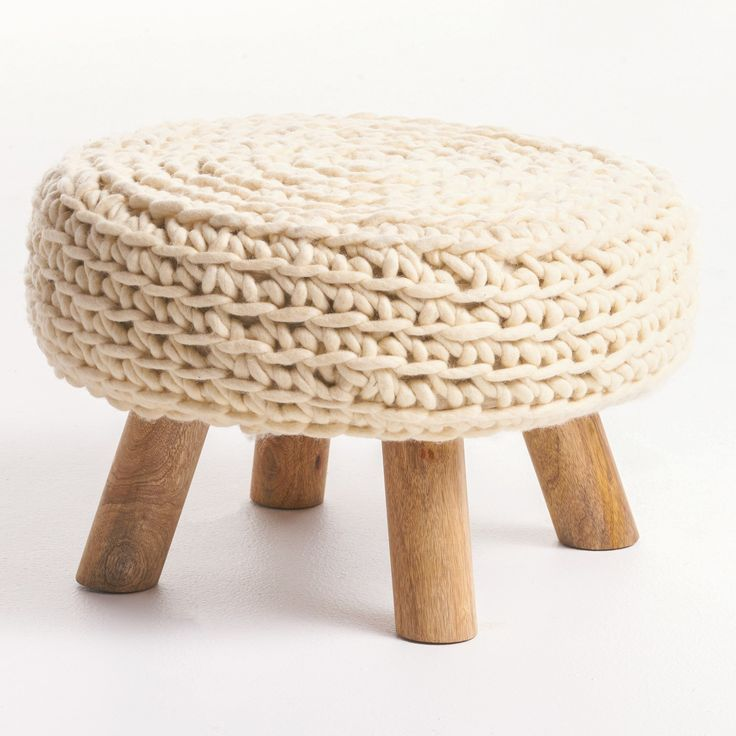 Darrow Round Ottoman Stool by Christopher Knight Home
