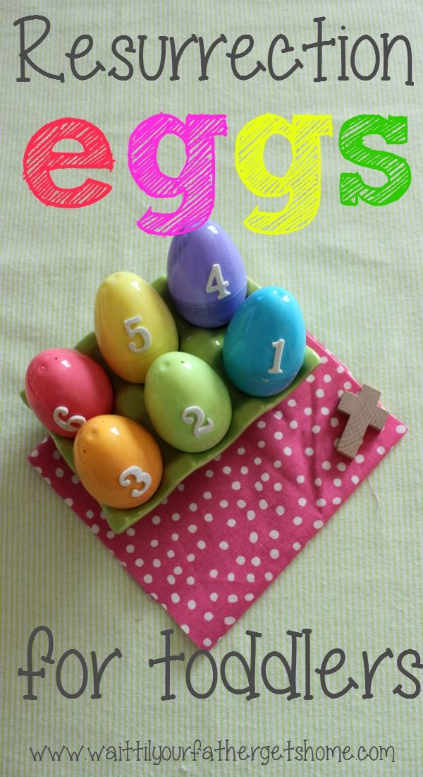 Resurrection Eggs for Toddlers -simple and to the point so they may get the gist of Easter