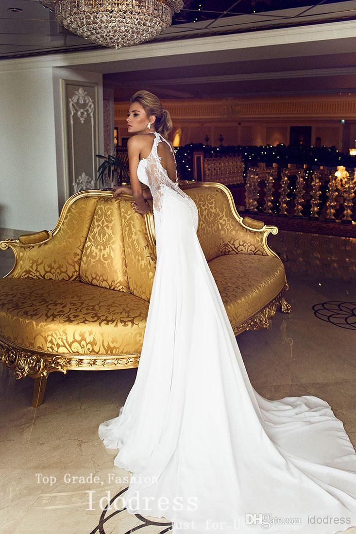 Romantic Open Back Lace Wedding Dresses Mermaid Trumpet Sweetheart Applique Beads 2014 Chiffon Bridal Gown Yk8R874 Purple Wedding Dress Red Wedding Dress From Idodress, &Price;| DHgate.Com