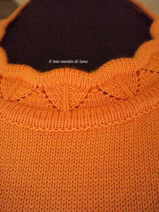 Il mio mondo di lana e.....: Maglietta salmone