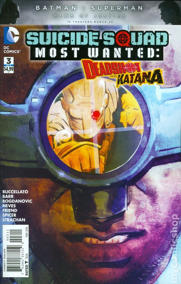 Suicide Squad Most Wanted Deadshot Katana (2016) 3