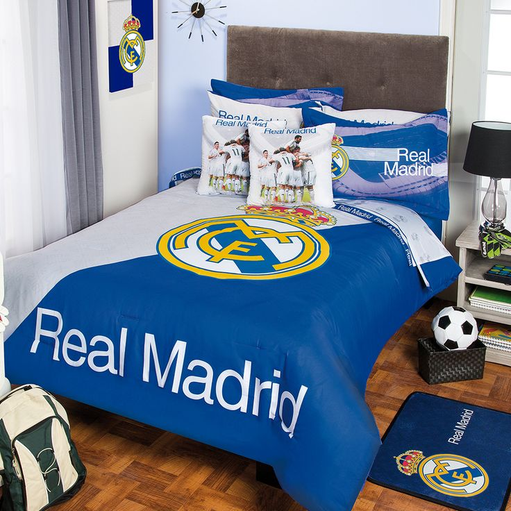 Coordinado de edred n club real madrid recamara ni os for Decoracion hogar madrid