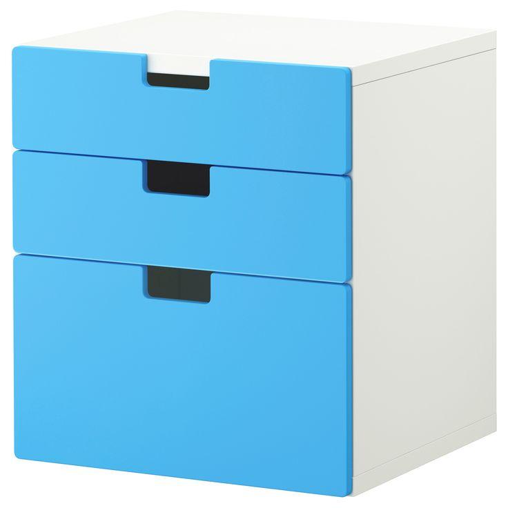 STUVA Kommode med 3 skuffer - blå - IKEA