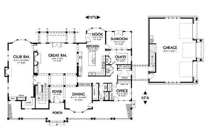 Planos De Casas Planos De Casas Planos De Casas Grandes Casa De 5 Dormitorios