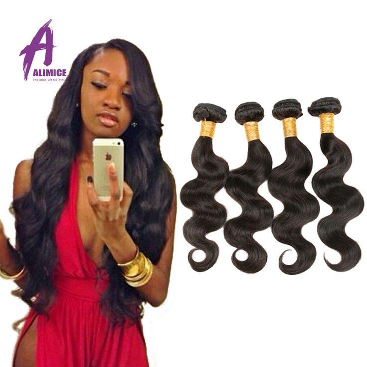 Brazylijski dziewiczy włosy ludzkie ciało fala włosów 4 sztuk dziewicą alimice włosów hurtownie 7a nieprzetworzona virgin human hair extension weave