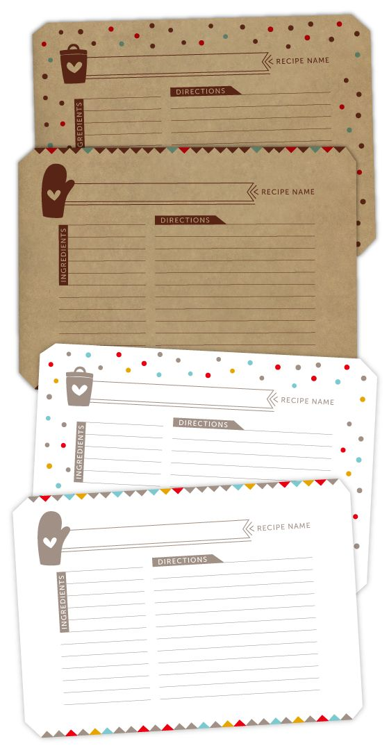 FREE Recipe Card Download