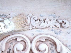 Реставрируем старую полку и декорируем ее в стиле шебби-шик | Ярмарка Мастеров - ручная работа, handmade