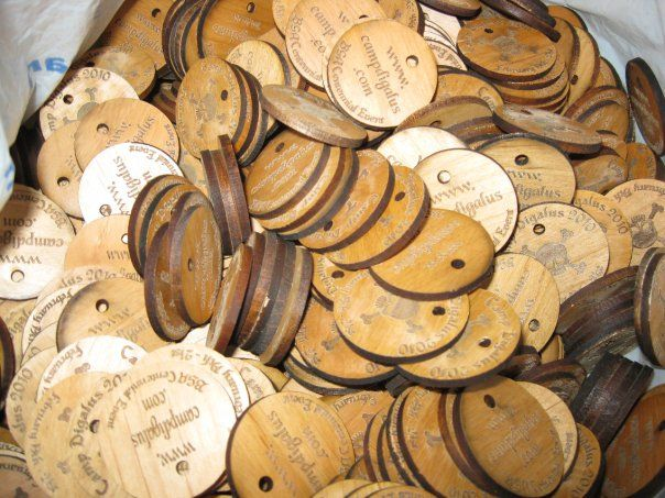 Custom Wooden Coins for a Scouting Event
