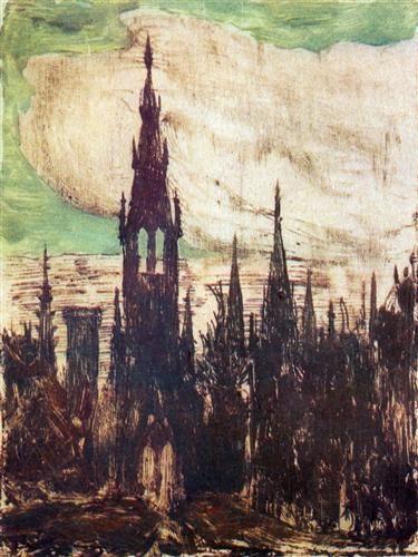 City (Towers) - Mikalojus Ciurlionis