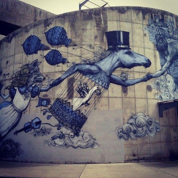 Alice in Wonderland inspired street art