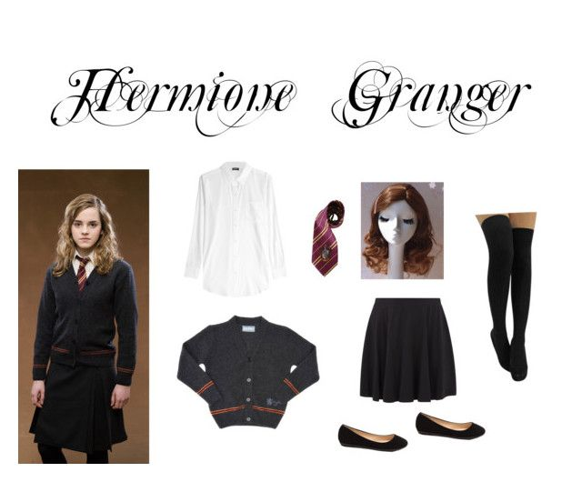 """Hermione Granger/ Harry Potter⚡️"" by bookfashiondesigner on Polyvore featuring DKNY, Elope and New Look"