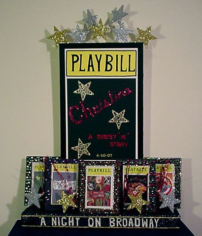 broadway themed centerpieces | Broadway Show Centerpieces - Celebration Art for Events