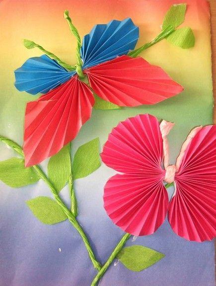 papierowe składane motyle