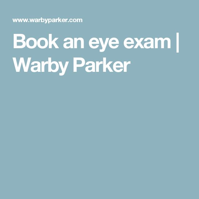 Book an eye exam | Warby Parker