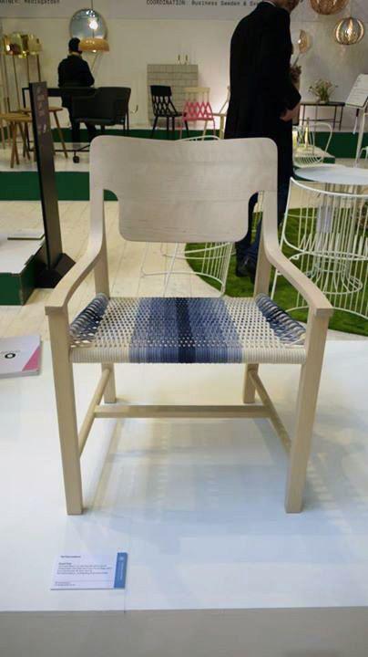 Moorii Chair in Milano Tortona furniture fair 2013. Groupwork by Ted Clemmedsson, Ludwig Berg and Karoliina Priha.