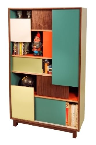 #Thomas Wold block party bookcase and credenza