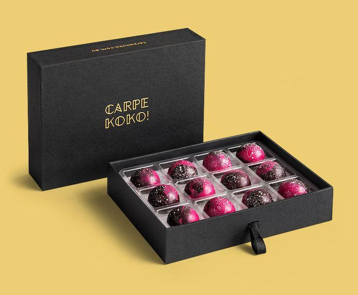 CARPE KOKO! Mary Framboise - 12 piece chocolate gift box. Buy online for delivery Australia wide www.carpekoko.com