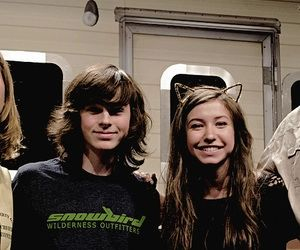 Chandler Riggs with his co-star, Katelyn