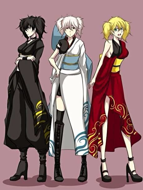 Type B Anime Characters : Gintama genderbend crossover pinterest d