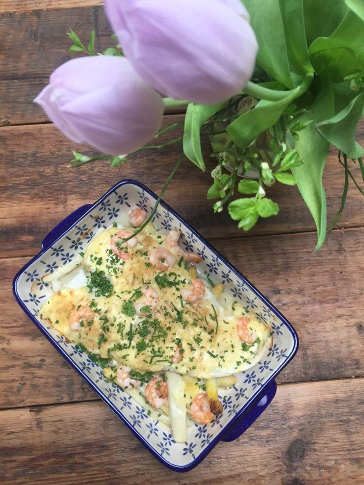 Ovenschotel met asperges en kabeljauw recept van foodblog Foodinista