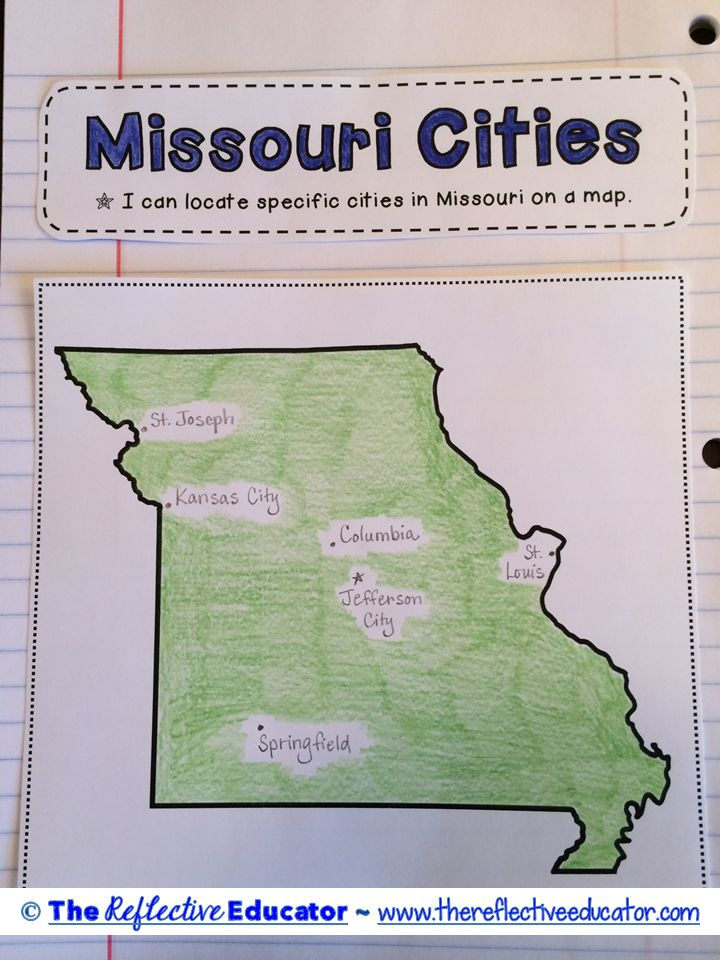 Best Social Studies Missouri Images On Pinterest Missouri - Map of cities in missouri