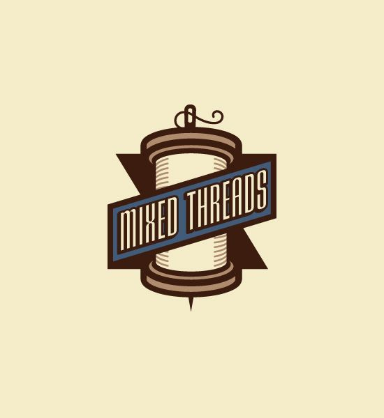 Vintage logo. A vertical scroll of music with ribbon could be ...
