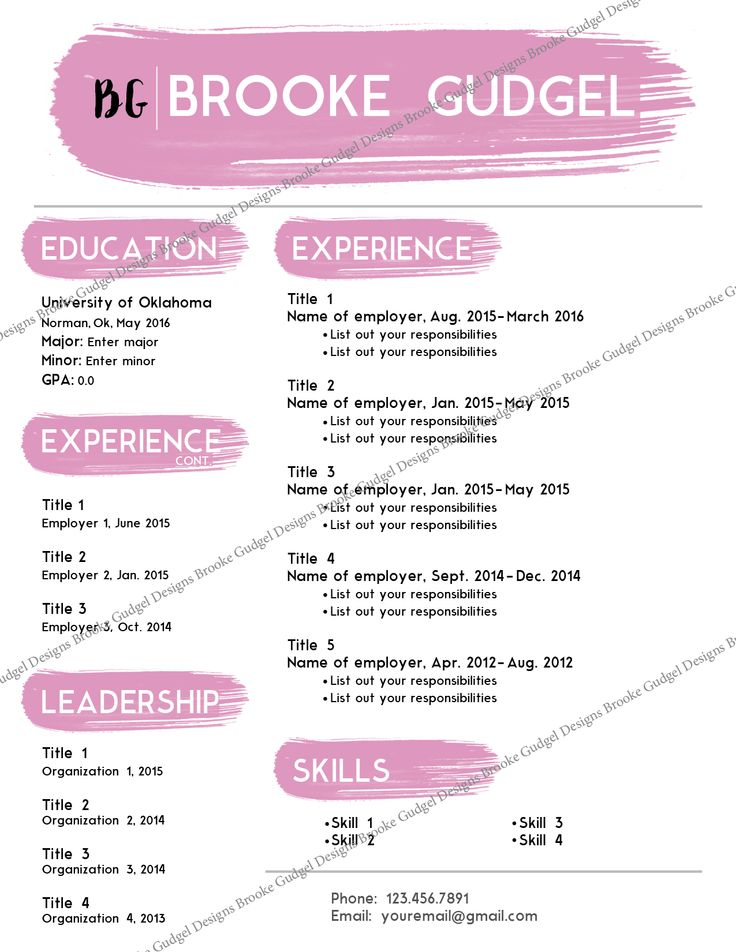 blush resume contact brookegudgel sorority