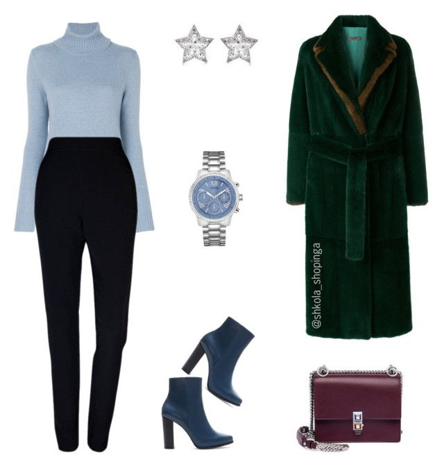 """Офис"" by shkolashopinga ❤ liked on Polyvore featuring Simonetta Ravizza, Loro Piana, Plakinger, Zara, GUESS, Fendi and CZ by Kenneth Jay Lane"