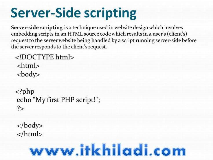 De 25+ bedste idéer inden for Server side scripting på Pinterest - server job description