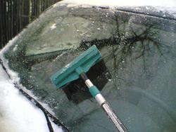 DIY windshield ice retardant spray....3 parts vinegar to 1 part water, spray on windshield night before