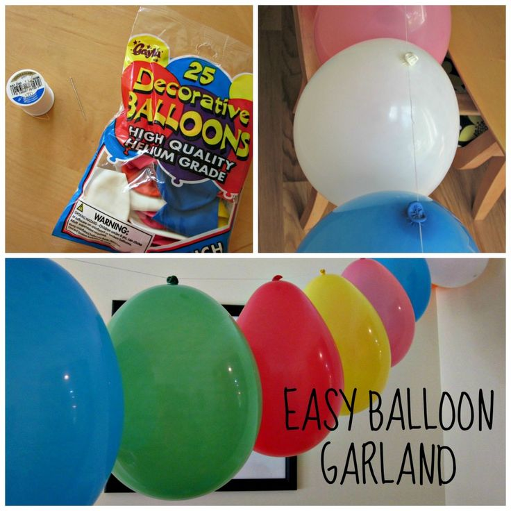 Easy Balloon Garland - a simple way to decorate for any party with balloons plus a needle & thread