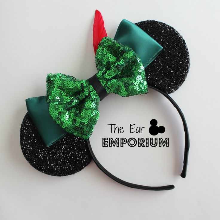 Peter Pan Inspired Minnie/Mickey Mouse Ears Headband ~ Off to Neverland! by theearemporium on Etsy https://www.etsy.com/listing/400955849/peter-pan-inspired-minniemickey-mouse